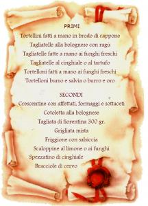 Menù La Gardenia
